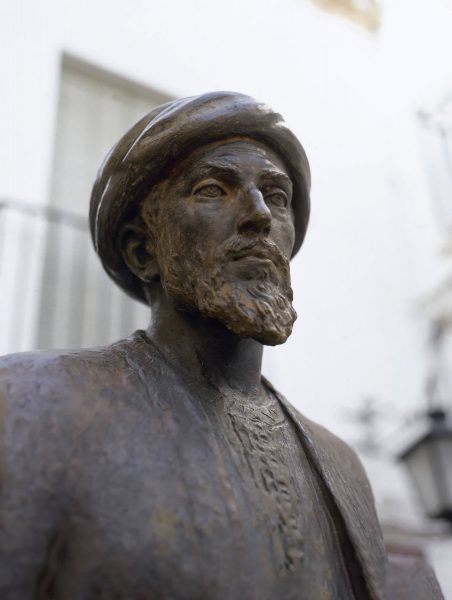 Statue in the Jewish quarter of Cordoba, Spain, of the Jewish philosopher and physician Maimonides.