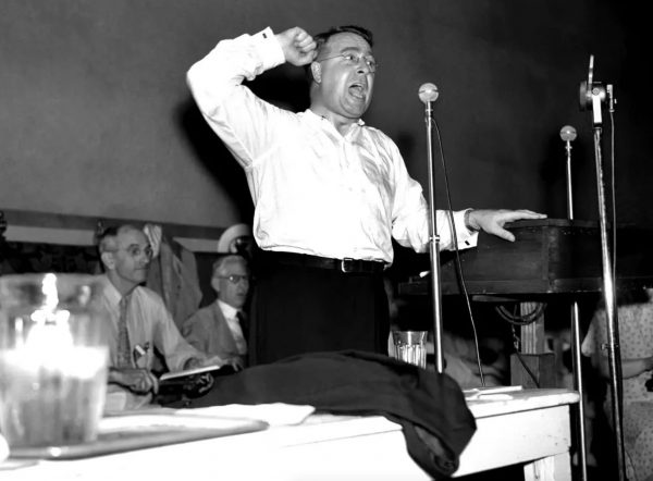 The Rev. Charles E. Coughlin, one of the first political leaders to use radio to reach a mass audience, was forced off the air in 1939 because of his pro-fascist and anti-Semitic rhetoric.