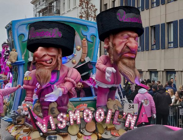 The annual parade in a Belgian town in 2019 featured caricatures of Orthodox Jews.