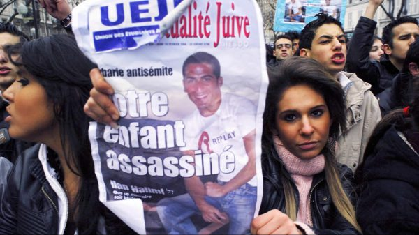 A Paris demonstration against antisemitism in memory of Ilan Halimi, who was tortured for three weeks before he died of his injuries. His kidnappers believed his family was wealthy because they were Jewish.