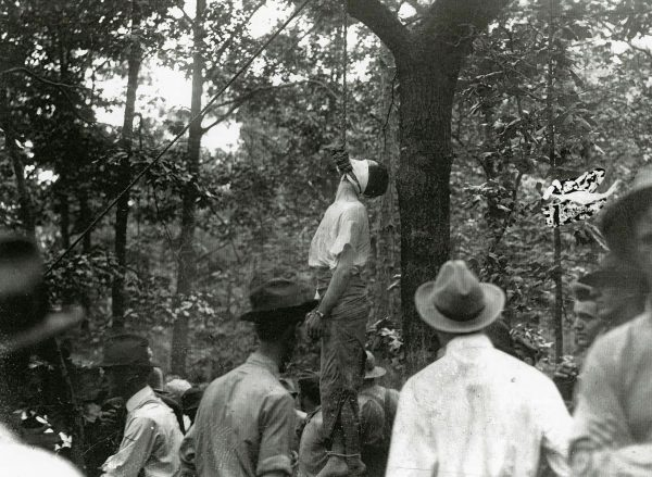 Photos of the lynching of Leo Frank were sold as postcards.