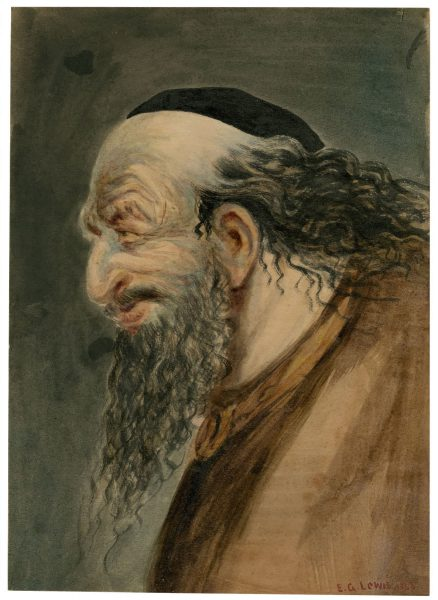 An 1863 depiction of Shylock by E.G. Lewis from the Folger Shakespeare Library.