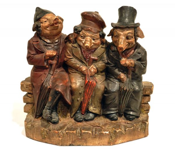 19th-century statuettes. Anti-Semites frequently portrayed Jews as animals, especially pigs.