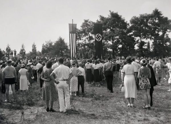 In the 1930s, Yaphank, Long Island was home to a Nazi community. At this 1937 rally, the German-American Federation reaffirmed its bylaws.