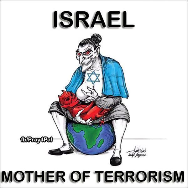An anti-Israel meme circulated in 2017.